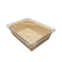 1000ml Biodegradable Paper Lunch Box with Lid