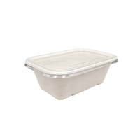 750ml Biodegradable Sugarcane Lunch Box with Lid