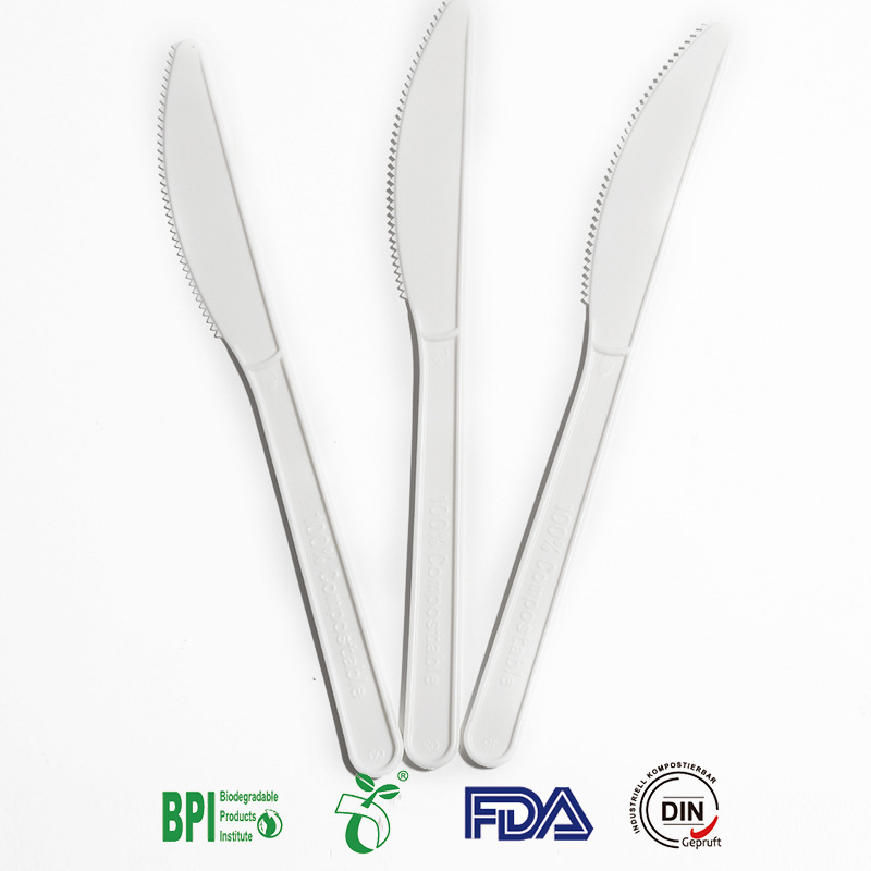 7 Inch Eco Friendly Disposable CPLA Knife