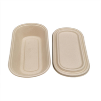 26OZ Eco Friendly Bagasse Bento Bowl with Lid