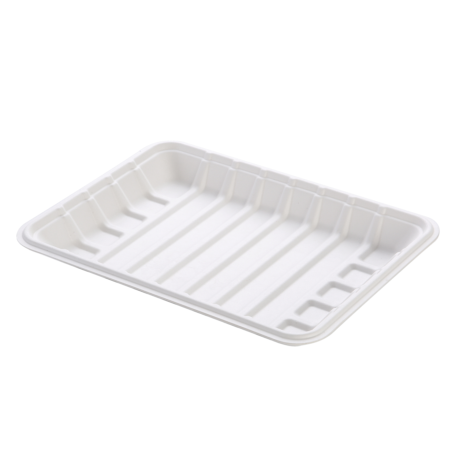 240(L)x175(W)x23(H)mm Eco Friendly Sugarcane Meat Tray