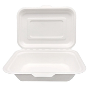 "7.2""x5.1"" x2.28"" 100% Biodegradable Sugarcane Pulp Clamshell Boxes"