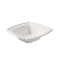 12 OZ Compostable Sugarcane Paper Square Bowl